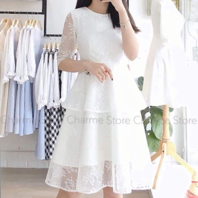 Váy trắng charme store