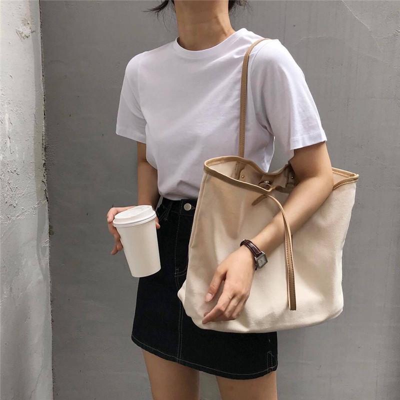 túi xách canvas ngăn rộng hàn quốc thời trang cho nữ - 14270302 , 2746697097 , 322_2746697097 , 287400 , tui-xach-canvas-ngan-rong-han-quoc-thoi-trang-cho-nu-322_2746697097 , shopee.vn , túi xách canvas ngăn rộng hàn quốc thời trang cho nữ