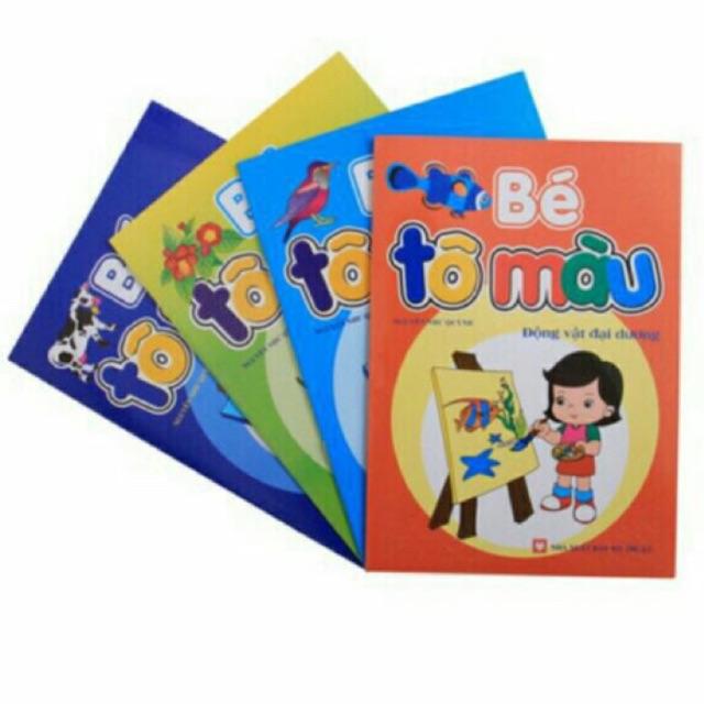 10 quyển vở bé tô màu 4-6 tuổi (bộ Kiến Nâu)