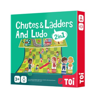 2 IN 1 Chutes & Ladders And Ludo Chess Board Game Snake & Ladders Kids Boys Girls Children Party Family Friends Games Toys