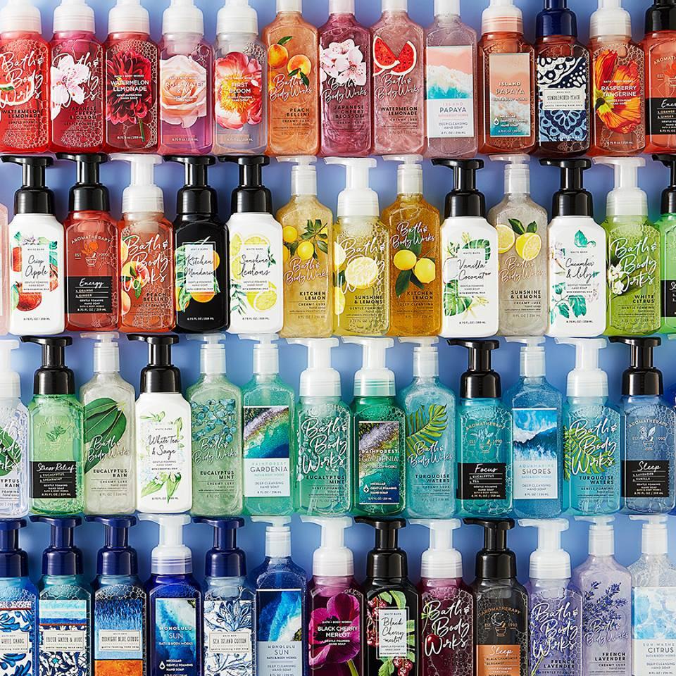 Gel rửa tay Bath & Body Works nhiều mùi
