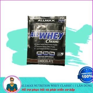 [XẢ KHO] Gói Sữa Dùng Thử Sample Whey Tăng Cơ Allmax Whey Classic 43gram (1 lần dùng) thumbnail