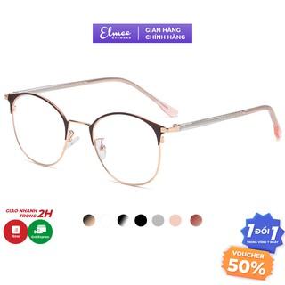 Gọng kính cận nữ Elmee mắt tròn nhẹ nhàng màu sắc thời trang phù hợp nhiều khuôn mặt E1030 thumbnail