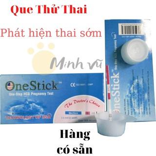 Que thử thai OneStick Xanh, thử tại nha, phát hiện thai xớm thumbnail