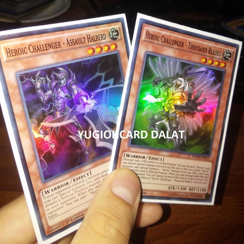 Thẻ bài Yugioh chính hãng set 2 lá Heroic Challenger – Super Rare