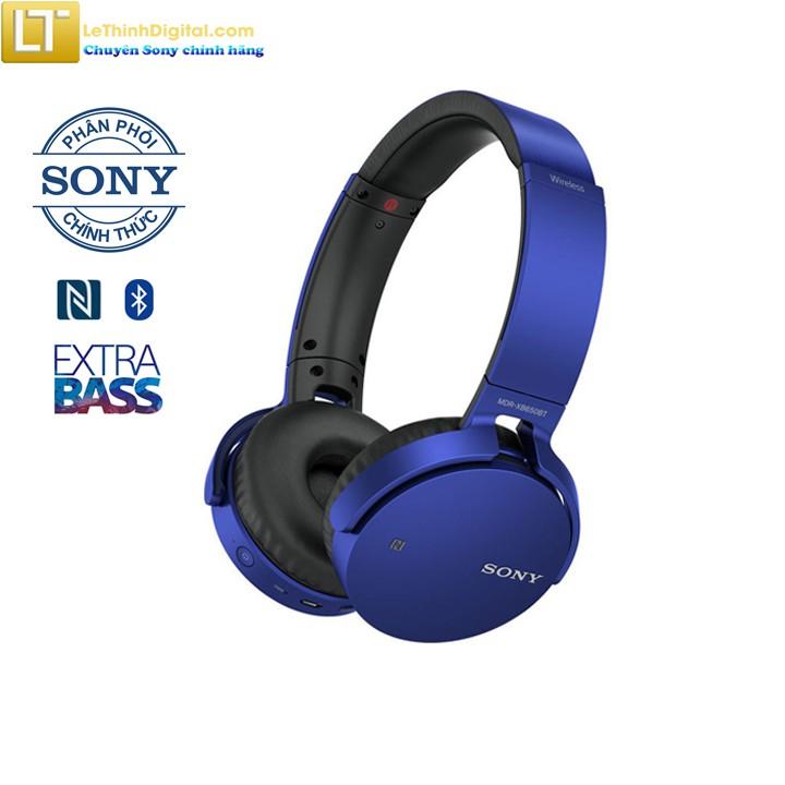 Tai nghe Bluetooth Sony MDR-XB650BT (Xanh Dương)-Hãng phân phối chính thức