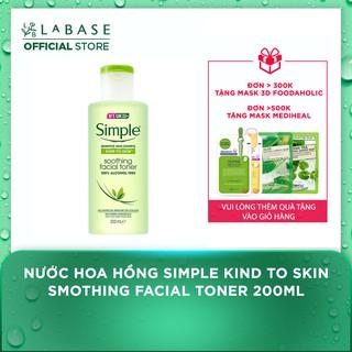 Nước Hoa Hồng Simple Kind to Skin Smothing Facial Toner 200ml [Mẫu 2020] thumbnail