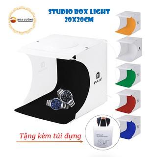 [MUA 1 ĐƯỢC 7] Hộp chụp ảnh sản phẩm 20cm LED và 6 phông nền có cửa trên lightroom box thumbnail