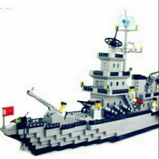 LEGO ARMY Tàu Chiến Hạm Hải Quân 370 chi tiết No3129