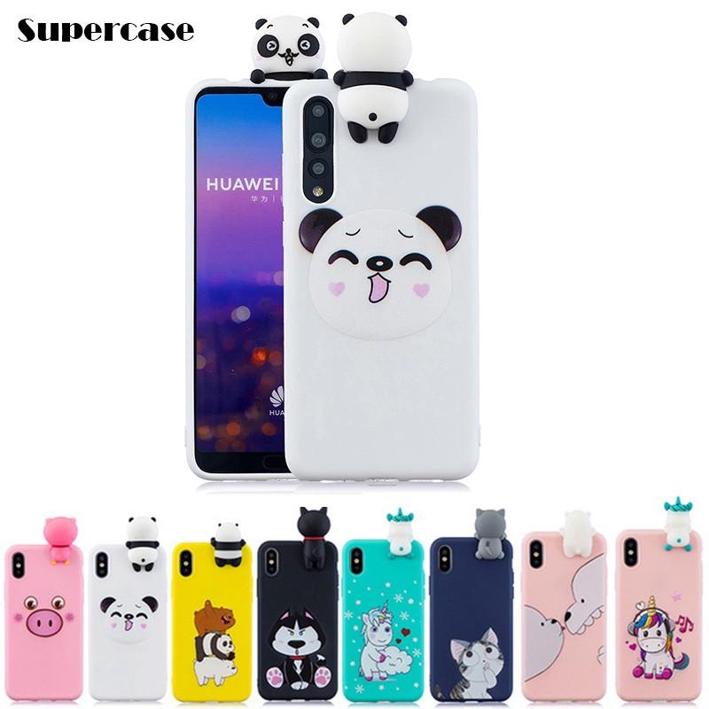 For Huawei P20 / P20 Pro Case Cartoon Cute Taipa Pig Bear unicorn Cat Cover case