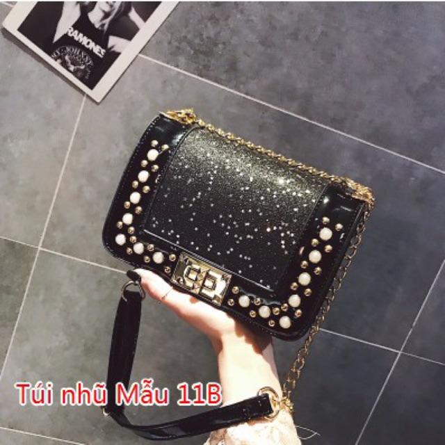 [Có sẵn] túi xách nhũ lấp lánh Mẫu 11 (có video)
