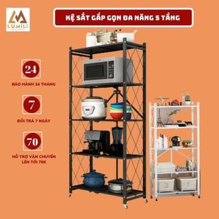 [Sale đầu năm ] Kệ sắt đa năng 5 tầng chất liệu thép mạ sơn tĩnh điện dễ dàng di chuyển và gấp gọn
