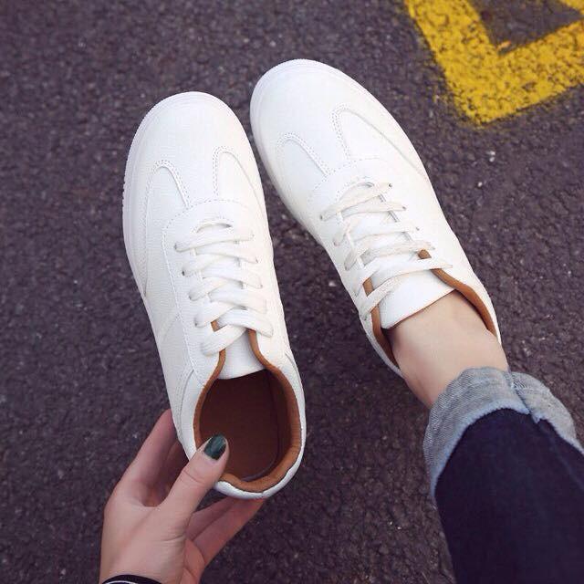 nhập mã [ WBSMAY ] giảm ngay 15% Giày Sneaker thể thao Hàn quốc nữ màu trắng