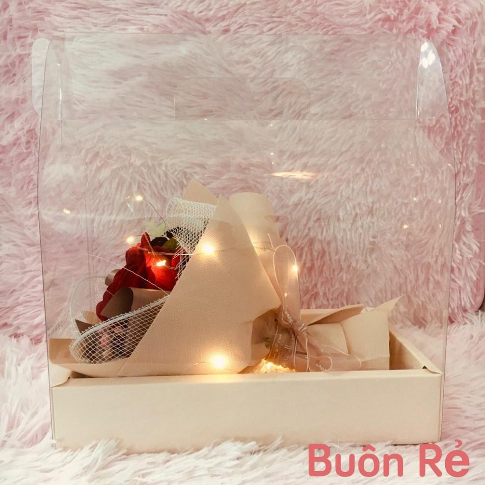Hoa hồng lụa cao cấp KÈM đèn Led quà siêu xinh và ý nghĩa cho phái đẹp  tnb33 giá cạnh tranh