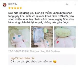Doll Ohahtae fansite Con Bố Taehyung Tặng Kèm Quà 7
