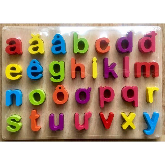 Bảng chữ Tiếng Việt Nổi bằng gỗ