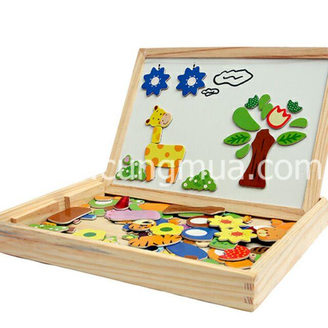 Bộ đồ chơi xếp  hình nam châm gỗ
