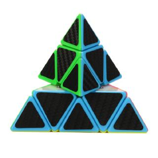 Emorefun Carbon Fiber Soomth Pyraminx Cube Magic Puzzle Cube