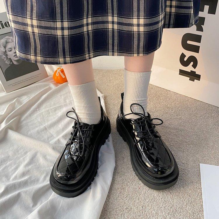 Giày Da Đế Dày Thời Trang Dành Cho Nữ