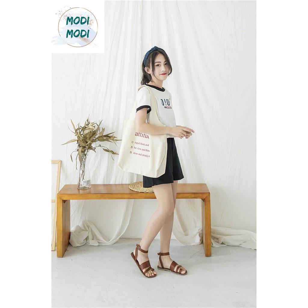 (Freeship từ 50k) MODI- Túi tote attitude' Hàn Quốc siê