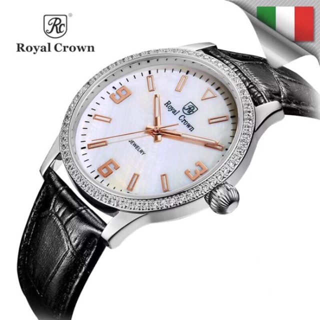 [ROYAL CROWN CHÍNH HÃNG] Đồng hồ nữ Chính Hãng Royal Crown 6424ST dây da đen - 2900775 , 1212691637 , 322_1212691637 , 2899000 , ROYAL-CROWN-CHINH-HANG-Dong-ho-nu-Chinh-Hang-Royal-Crown-6424ST-day-da-den-322_1212691637 , shopee.vn , [ROYAL CROWN CHÍNH HÃNG] Đồng hồ nữ Chính Hãng Royal Crown 6424ST dây da đen