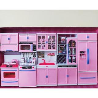 Bộ đồ chơi nhà bếp rất lớn cho bé, kiểu nhà bếp hiện đại 5 khối dùng pin 818-168. hộp 64x37x9cm. 1,9KG
