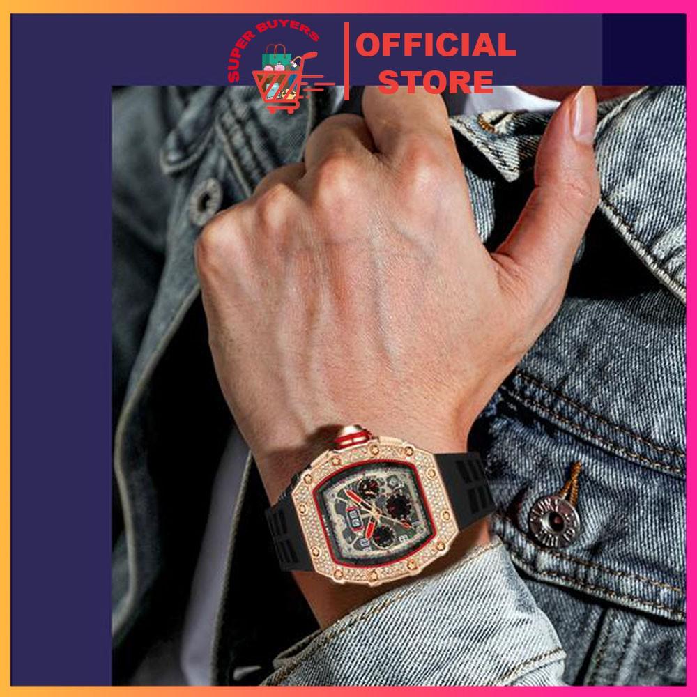 Đồng hồ nam Pin Time mặt vuông
