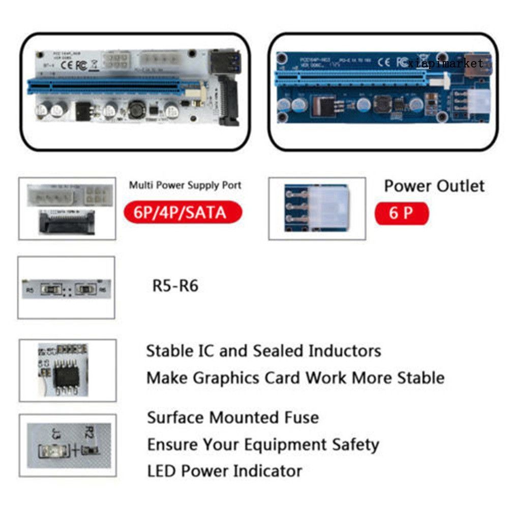 SATA Card Mở Rộng Com   Usb 3.0 Pci-E 1x Sang 16x