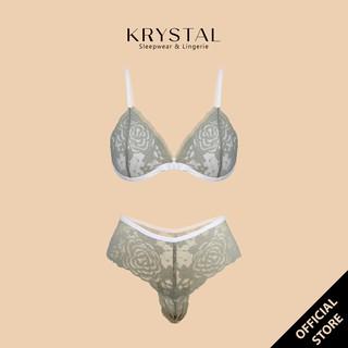 Bộ đồ lót ren không gọng mút vừa màu Xanh bơ sexy gợi cảm KRYSTAL Bralette KB33 thumbnail