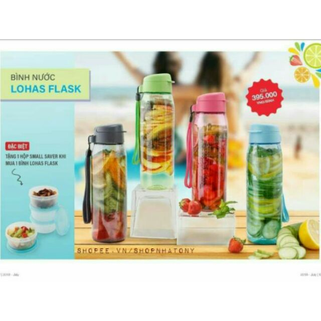 [Tupperware] Bình Nước Detox Lohas Flask 750ml - 3021559 , 1047456059 , 322_1047456059 , 395000 , Tupperware-Binh-Nuoc-Detox-Lohas-Flask-750ml-322_1047456059 , shopee.vn , [Tupperware] Bình Nước Detox Lohas Flask 750ml