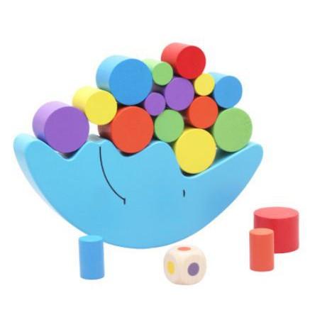 Đồ chơi thăng bằng gỗ Mặt Trăng - Xúc xắc- Trò chơi tương tác