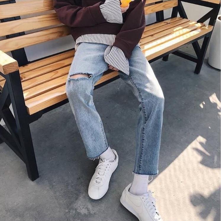 Quần jean nam hàn quốc quần baggy quần jeans unisex Kun Shop