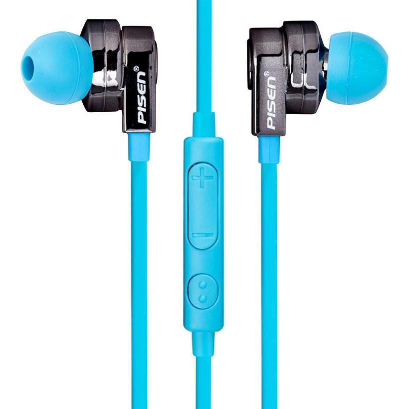 Tai nghe Pisen EarPhone G106 (dùng cho Iphone) Màu xanh da trời