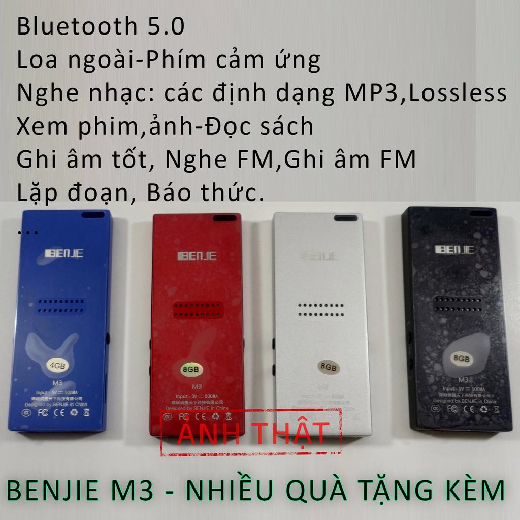 (Giá gốc) Máy nghe nhạc Benjie M3 (sẵn hàng) có Bluetooth, loa ngoài...chất lượng cao, nhiều quà tặng kèm