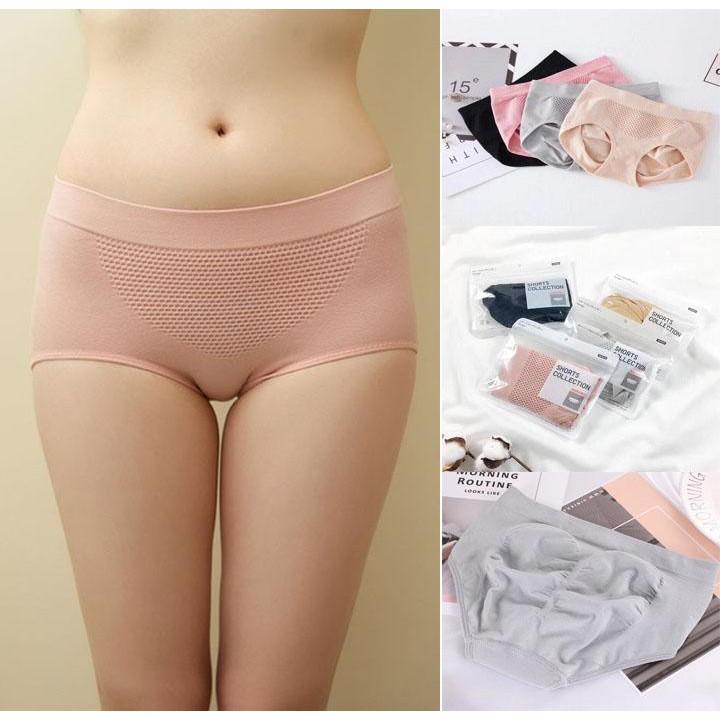 Combo 03 quần lót nữ gen định hình thông hơi ôm mông xuất Nhật