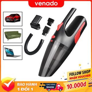 Máy hút bụi cầm tay mini không dây và có dây công suất lớn 120W kèm 5 đầu hút V2 – Venado