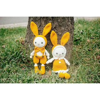Set thỏ Titi Mimi vàng đất