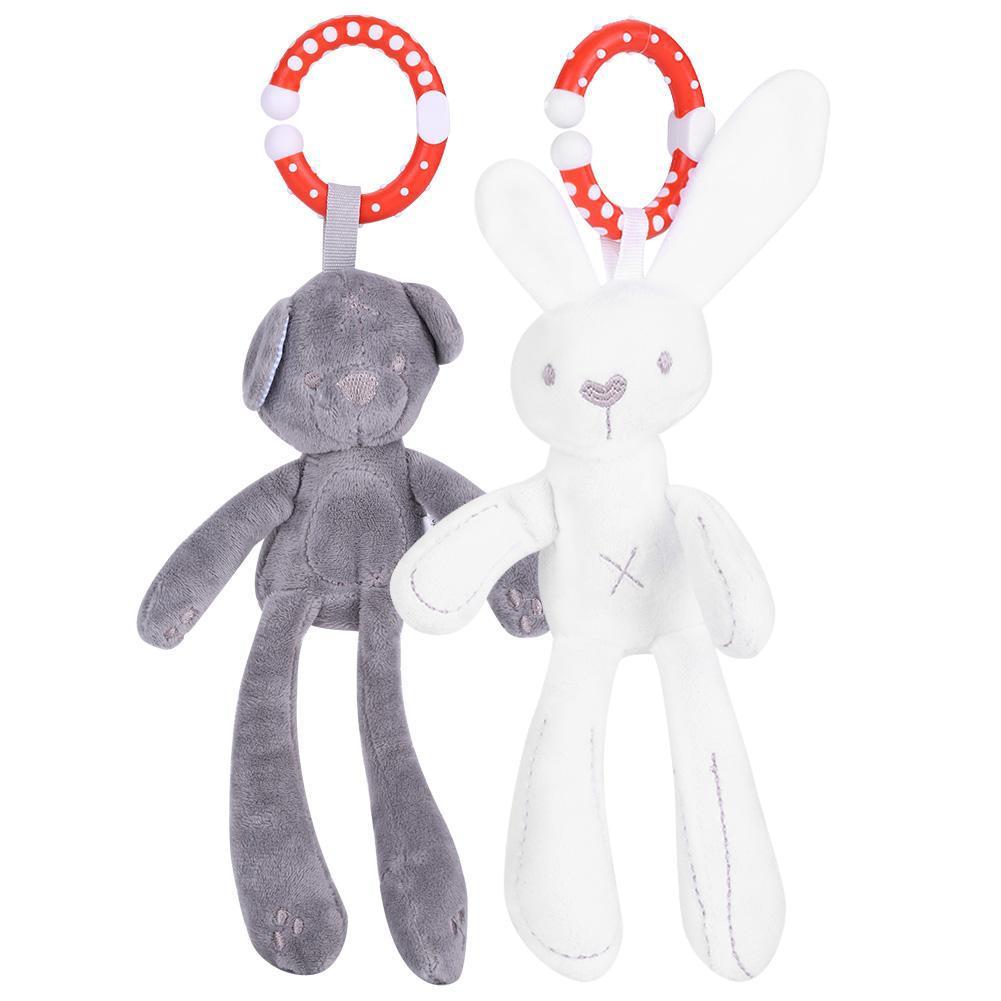 Cartoon Animal Plush Doll Infant Bed Hand Bell Rabbit Rattle