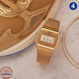Đồng hồ unisex dây kim loại Casio Standard chính hãng Anh Khuê A700 Series