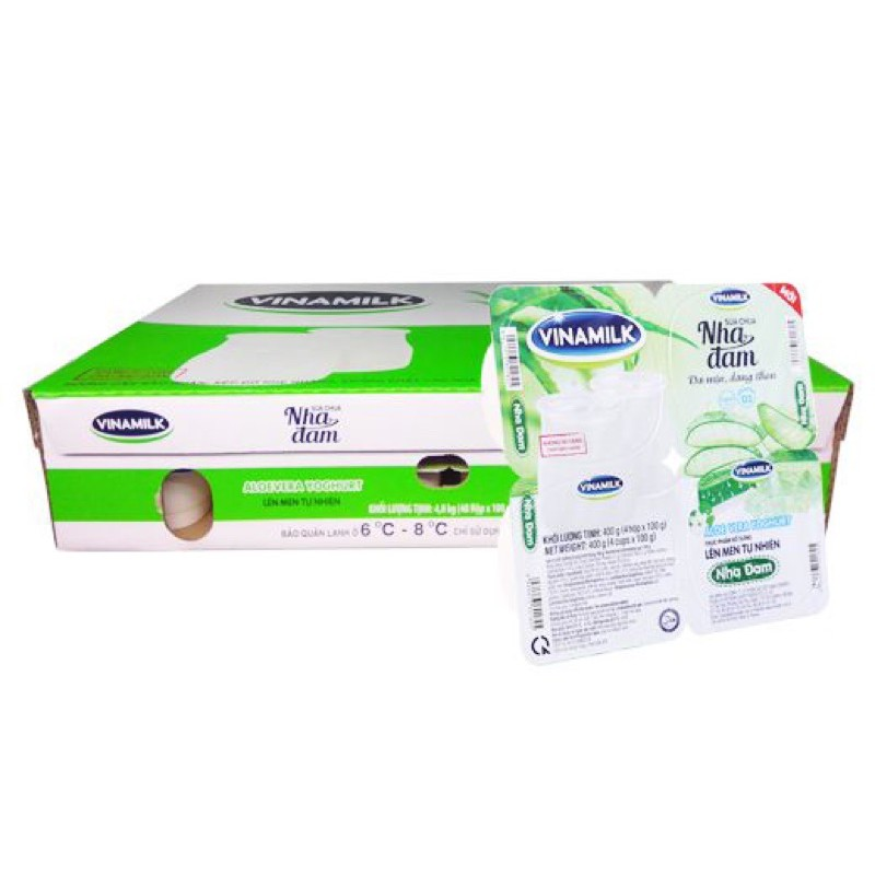 Sữa Chua Ăn Vinamilk Vị Nha Đam - Vỉ 4 hộp x 100g