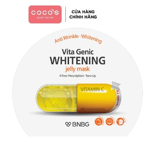 Mặt nạ giấy dưỡng da trắng sáng và làm đều màu da BNBG Vita Genic Whitening Jelly Mask (Vitamin C) 30ml - [BNBG VÀNG]