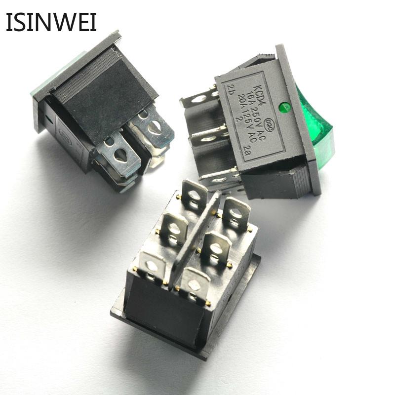 Set 10 công tắc 6 pin có đèn LED KCD4-202 16A 250V - 22614394 , 2587570414 , 322_2587570414 , 93613 , Set-10-cong-tac-6-pin-co-den-LED-KCD4-202-16A-250V-322_2587570414 , shopee.vn , Set 10 công tắc 6 pin có đèn LED KCD4-202 16A 250V