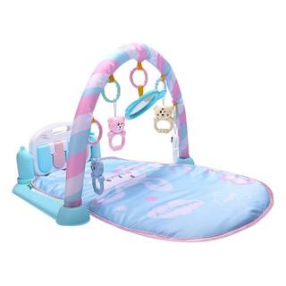 Thảm nằm chơi có nhạc cho bé loại mẫu đẹp màu xanh