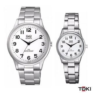 Đồng hồ đôi Q&Q Citizen C214J204Y & C215J204Y dây sắt thương hiệu Nhật Bản