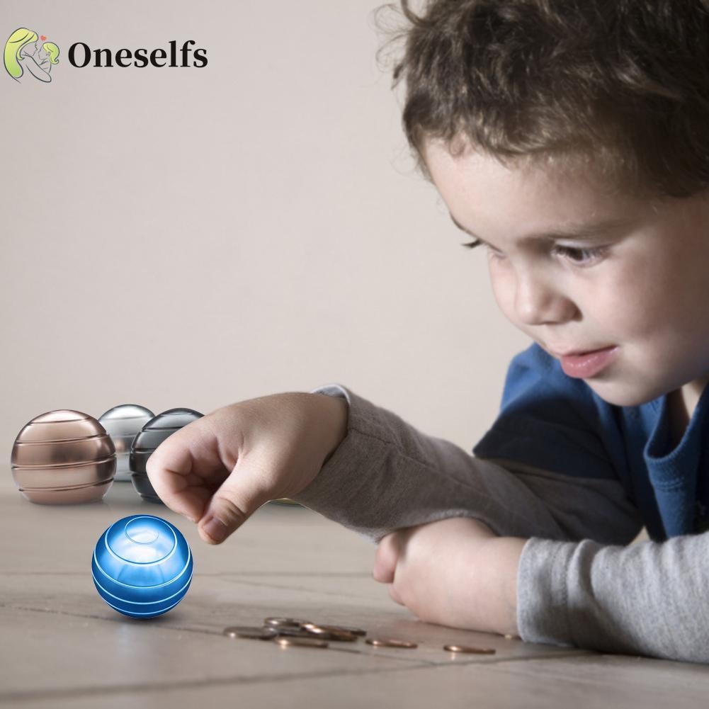 OS❤COD√Desktop Stress Relief Toy Rotary Gyro Decompression Ball Gyroscope Spinning