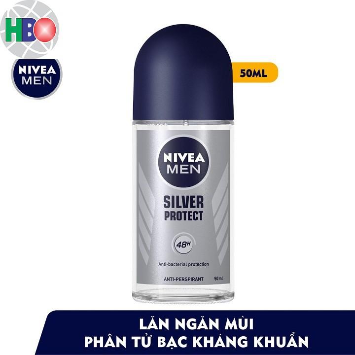 83778-Lăn ngăn mùi NIVEA MEN Silver Protect phân tử bạc kháng khuẩn 50ml