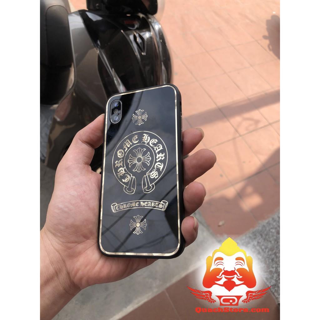 Ốp lưng Iphone Logo chrome Heart gương kính đủ mã 6,6 plus ,7,7 plus ,8,8 plus ,iphone X giả iphone...