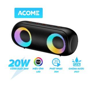 Loa Bluetooth  ACOME A20  Công Suất 20W Hiệu Ứng LED RGB Chống Nước IPX7 30H Sử Dụng Liên Tục - Hàng Chính Hãng