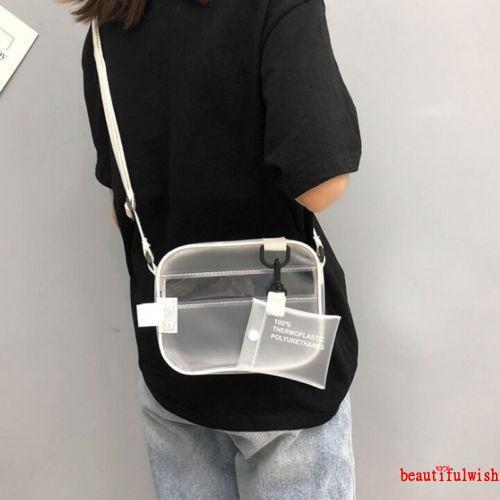 Túi đeo chéo bằng nhựa PVC trong suốt dành cho phái nữ