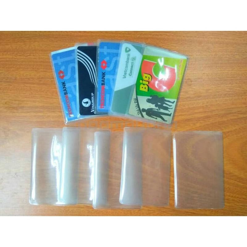 Set 5 bao nhựa dẻo bọc thẻ căn cước, thẻ ngân hàng ...